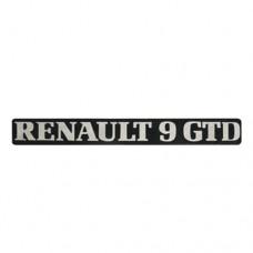 Arka yazı (RENAULT 9 GTD )