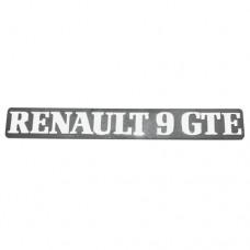Arka yazı (RENAULT 9 GTE )