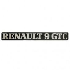 Arka yazı (RENAULT 9 GTC )